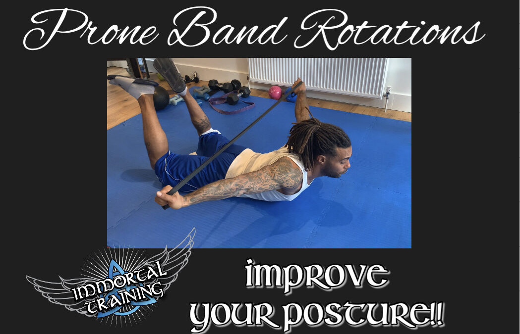 Prone Band Rotations – Improve Your Posture