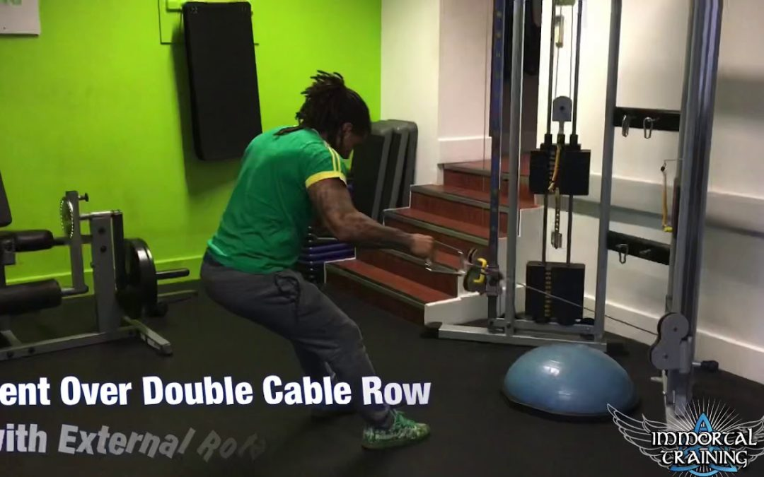 Bent Over Double Cable Row with External Rotation