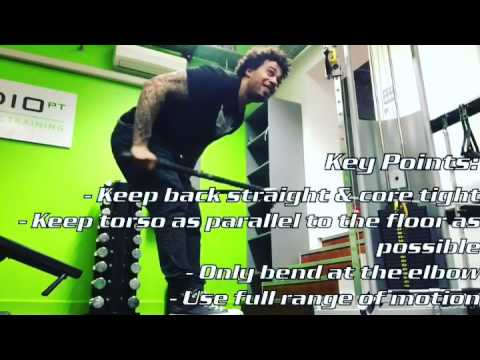 Bent Over Double Rope Triceps Extension