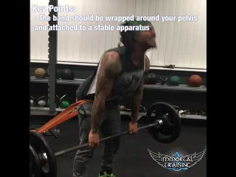 Dead Lift with Posterior Band Resistance