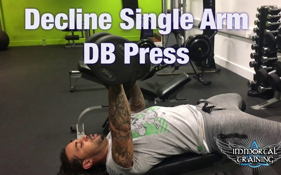 Decline Single Arm DB Press