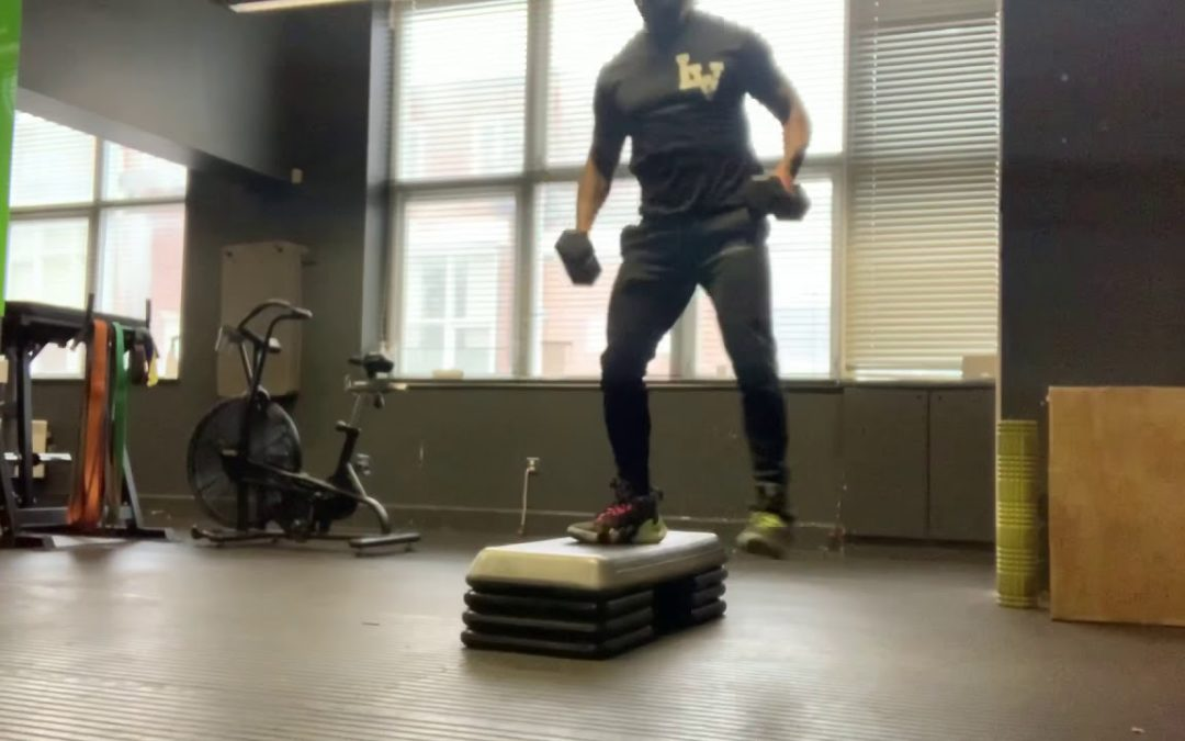 Elevated Side DB Lunges