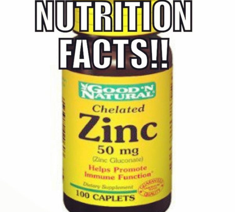 Nutrition Facts: Zinc