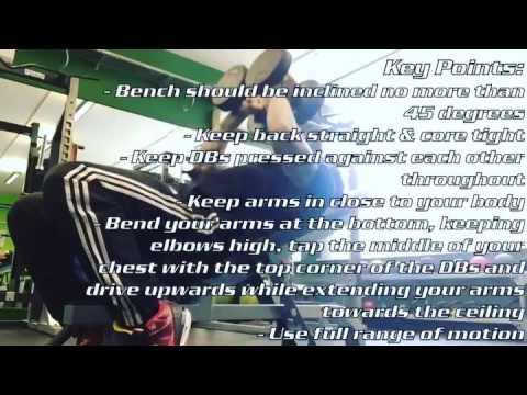 Incline Close Grip DB Triceps Press