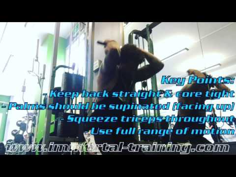 Kneeling Overhead Cable Extension with Supine Grip