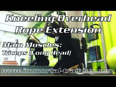 Kneeling Overhead Rope Extension