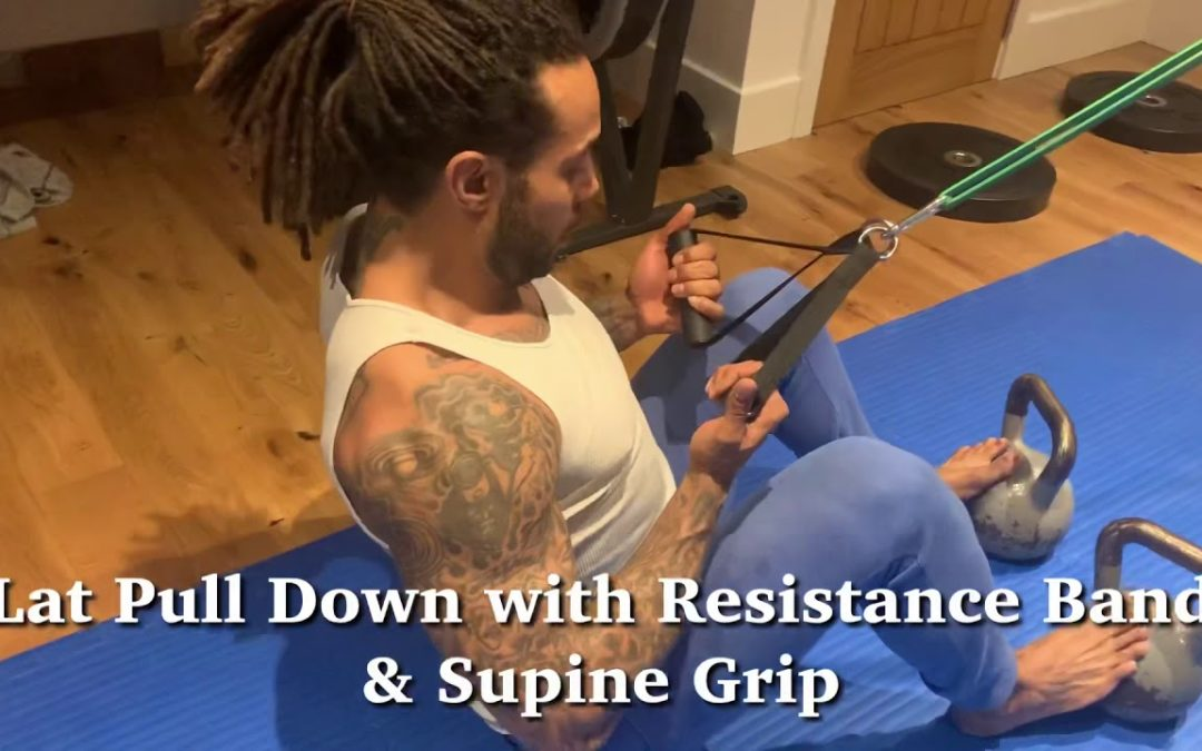 Lat Pull Down with Resistance Band