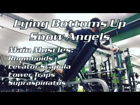 Lying Bottoms Up Snow Angels