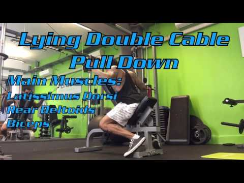 Lying Double Cable Pull Down