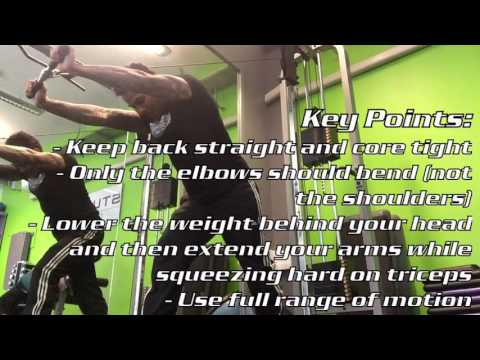 Overhead Triceps Cable Extension
