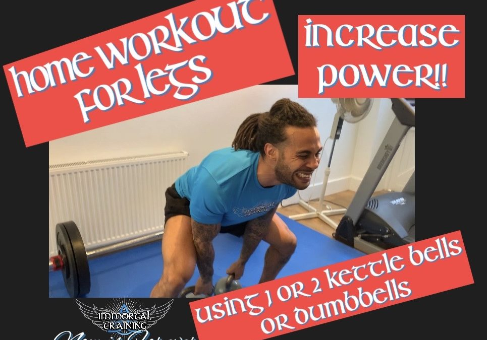 Home Workout for Legs Using Plyometrics with Kettle Bells or Dumbbells