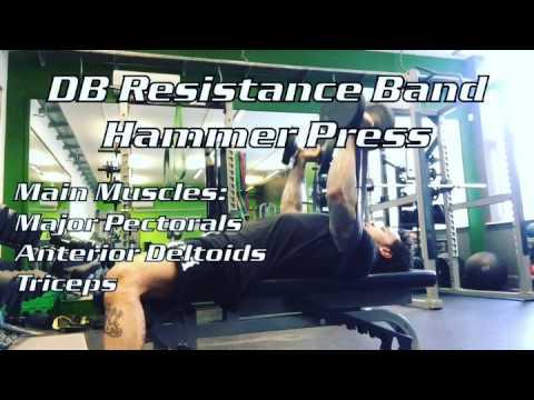 Resistance Band DB Hammer Press