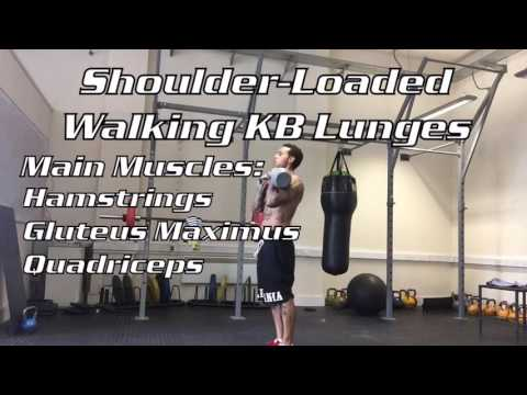 Shoulder-Loaded Walking KB Lunges
