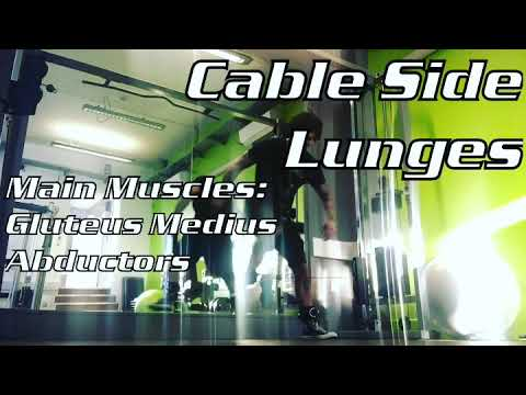 Side Cable Lunges