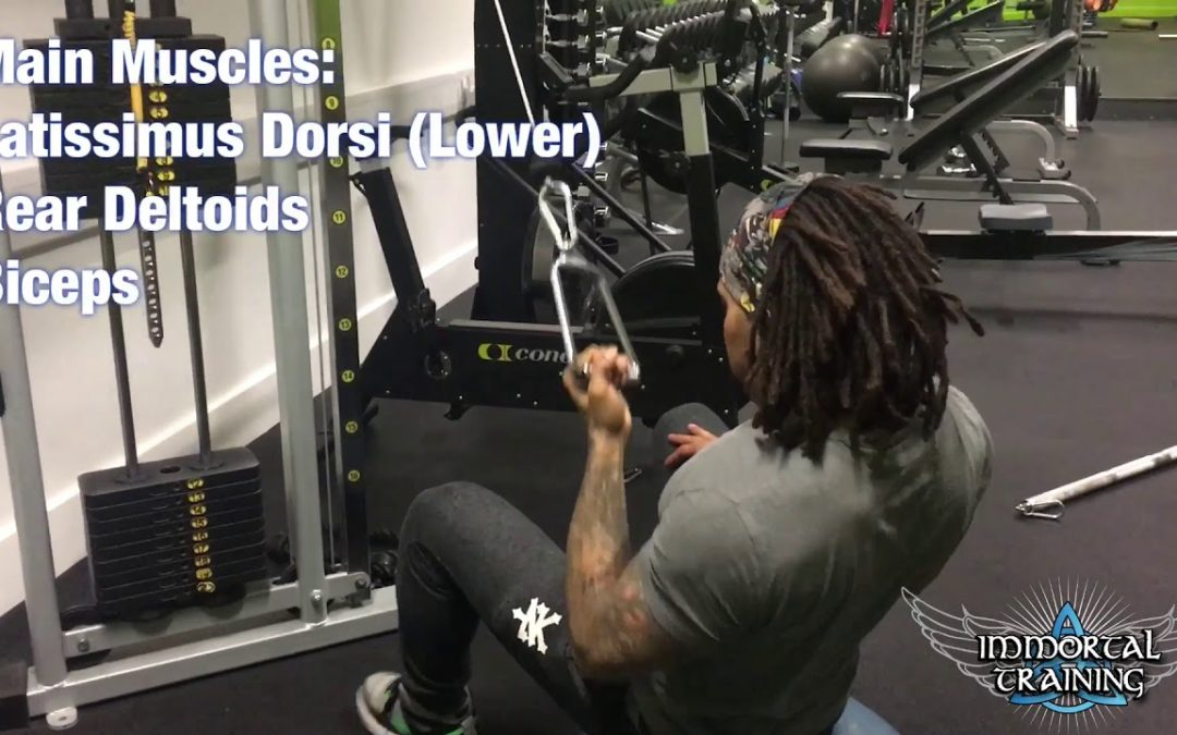 Single Arm Pull Down with Supine Grip