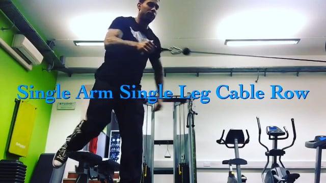 Single Arm Single Leg Cable Row