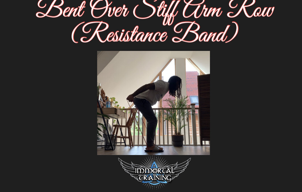 Stand-on-the-Band Stiff Arm Bent Over Row
