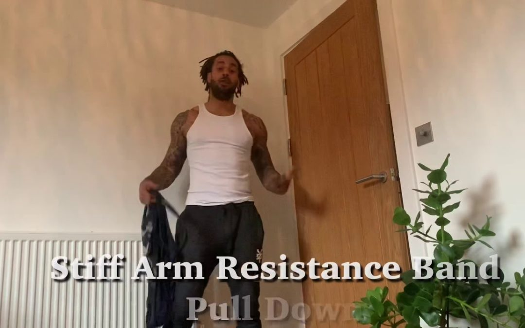 Stiff Arm Resistance Band Pull Down