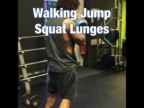 Walking Jump Squat Lunges
